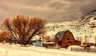Photograph - Winter Farm Scene - Wyoming by L O C