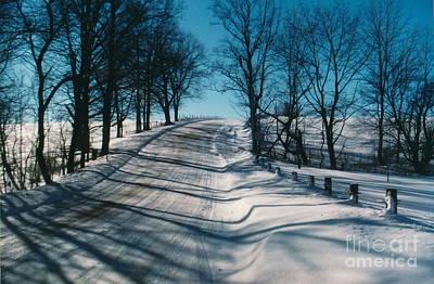 Winter Farmroads Art Print by Jesse Ciazza