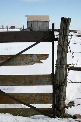 Photograph - Winter Fence Farm V by Dylan Punke