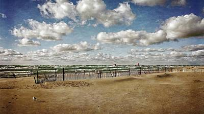 Photograph - Winter Fences In Grand Haven 3.0 by Michelle Calkins