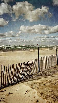 Photograph - Winter Fences In Grand Haven by Michelle Calkins
