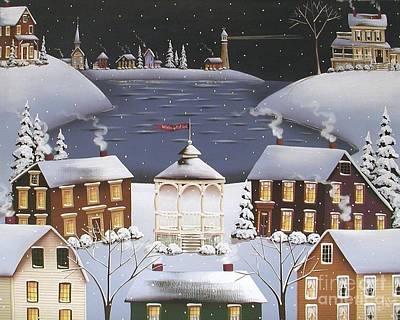 Winter Festival Art Print by Catherine Holman