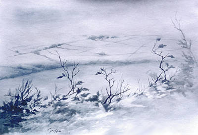 Painting - Winter fields by Mai Griffin