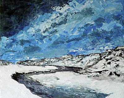 Painting - Winter Filled Arroyo by Carl Owen