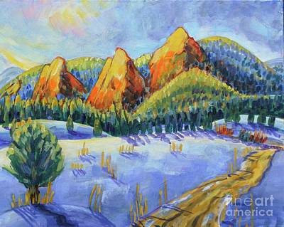 Painting - Winter Flatirons by Harriet Peck Taylor