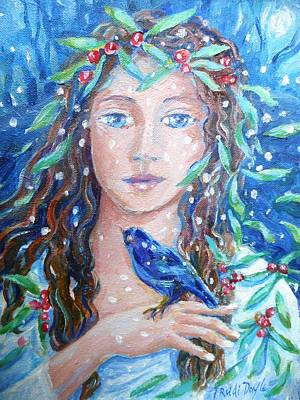 Painting - Winter Fledgling  by Trudi Doyle
