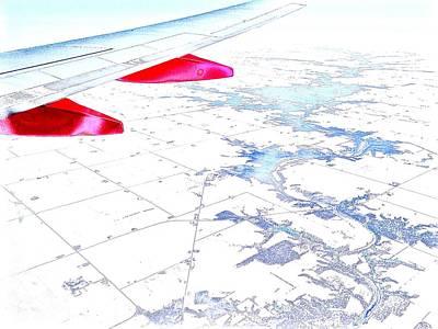 Airscape Photograph - Winter Flight Over The Plains by Scott L Holtslander