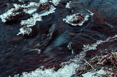 Photograph - Winter Flow. Frozen Nature by Jenny Rainbow