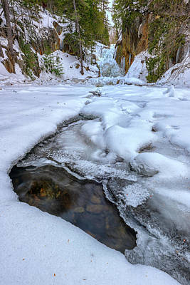 Photograph - Winter Flow On The Sandy River by Rick Berk