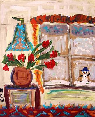Mary Carol Art Drawing - Winter Flowers by Mary Carol Williams