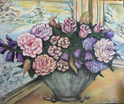 Painting - Winter Flowers by Rae Chichilnitsky