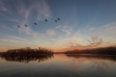 Photograph - Winter Flyby by Scott Bean