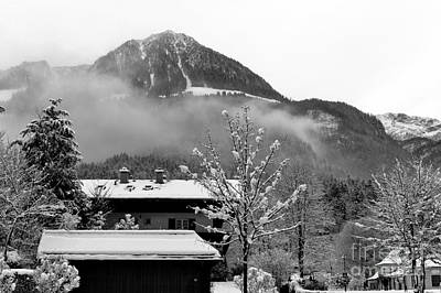 Photograph - Winter Fog In The Alps by John Rizzuto