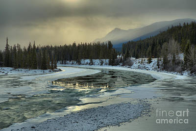 Photograph - Winter Fog Over The Athabasca by Adam Jewell