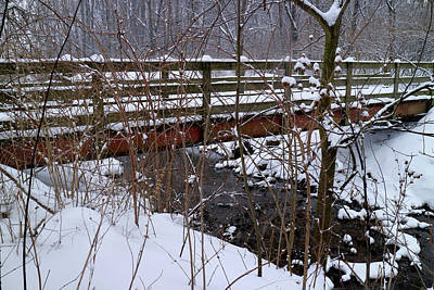 Photograph - Winter Footbridge by Scott Kingery