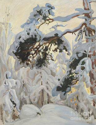 Painting - Winter Forest by Celestial Images