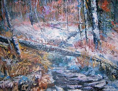 Winter Forest Art Print by Judy Groves