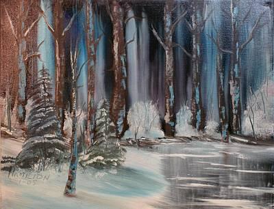 Winter Forest Art Print by Larry Hamilton