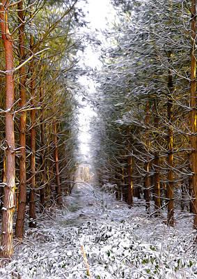 Sugar Skulls - Winter Forest by Svetlana Sewell