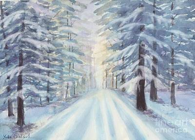Painting - Winter Forest by Yohana Knobloch