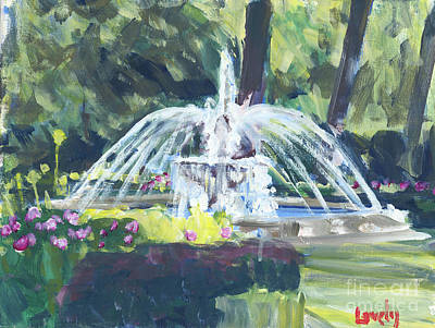 Painting - Winter Fountain, Indigo Run by Candace Lovely