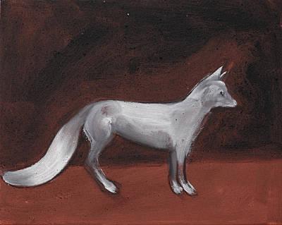 Winter Fox Art Print by Sophy White
