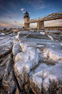 Photograph - Winter Freeze At Marshall Point by Rick Berk