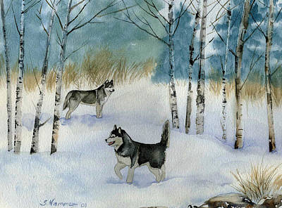 Painting - Winter Frolic by Sharon Nummer