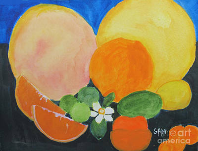 Salade Painting - Winter Fruit by Sandy McIntire