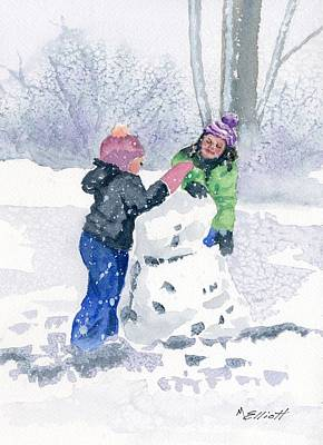 Winter Fun Original by Marsha Elliott