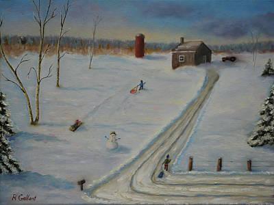 Winter Fun Original by Ron Gallant
