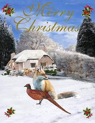 Mixed Media - Winter Garden Christmas by Eric Kempson