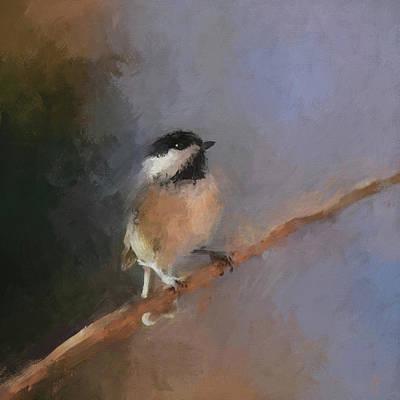 Painting - Winter Garden Visitor by Jai Johnson
