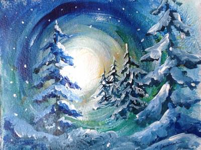Winter Glow Art Print by Marilyn Jacobson