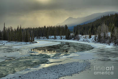 Photograph - Winter Golden Glow Over The Athabasca by Adam Jewell