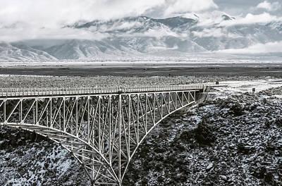Photograph - Winter Gorge Bridge  by Britt Runyon