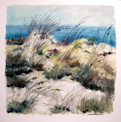 Art Print featuring the painting Winter Grasses by John Williams