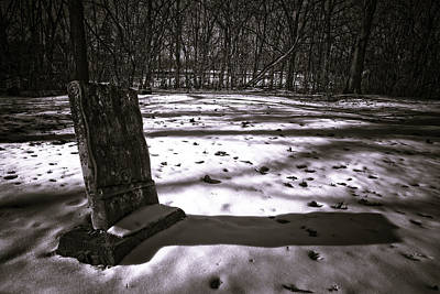 Winter Grave Art Print by George Christian