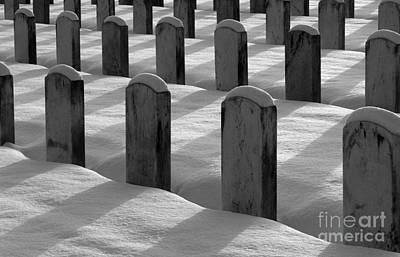 Photograph - Winter Grave Site by Jim Corwin