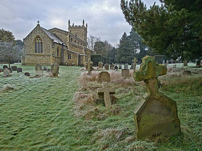 Photograph - Winter Graveyard by Anne Kotan