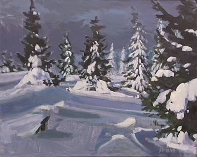 Snow Painting - Winter Grays by Brian Simons