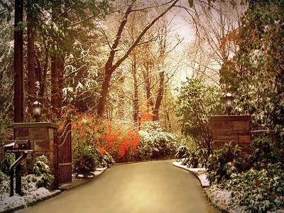 Winter Greets Autumn Art Print