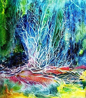 Art Print featuring the painting Winter Habitat No.2  by Trudi Doyle