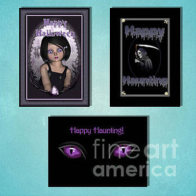 Digital Art - Winter Halloween by JH Designs
