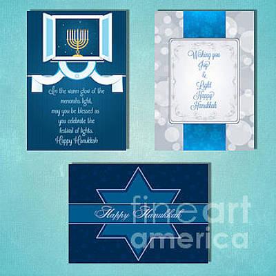 Digital Art - Winter Hanukkah by JH Designs