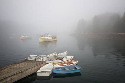 Photograph - Winter Harbor Engulfed In Fog by Darylann Leonard Photography