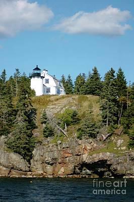 Firefighter Patents Royalty Free Images - Winter Harbor Lighthouse Royalty-Free Image by Kathleen Struckle