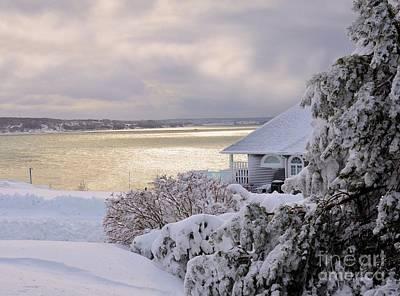 Photograph -   Atlantic Ocean Winter Harbour by Elaine Manley