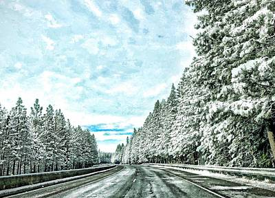 Photograph - Winter Highway by Steph Gabler