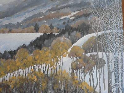 Winter Hills Art Print by Giacomo Alessandro Morotti